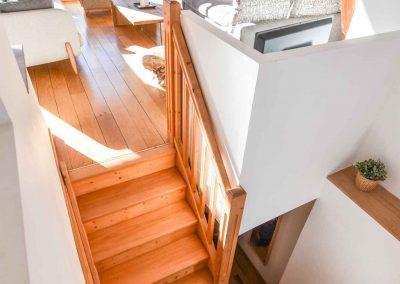 Escalier entre niveau 1 et 2