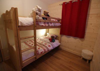 Le Hameau du Pontet - Chambre Mouflon avec 1 lit superposé niveau -1