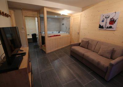 Le Hameau du Pontet - Family Room l'Ane donnant sur le SPA niveau -2